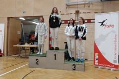 Auch national erfolgreich: Frida holt Gold in Mödling. Der dritte Platz ging an Antonia.