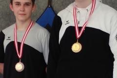 Yannic und Alexander mit ihren Bronzemedaillen beim Barbasetti-Turnier.