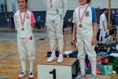 Medaillen bei den Jüngsten: Sofia mit Silber und Mariella mit Bronze.