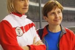 Bei der Veteraninnen WM: Astrid und Enrica