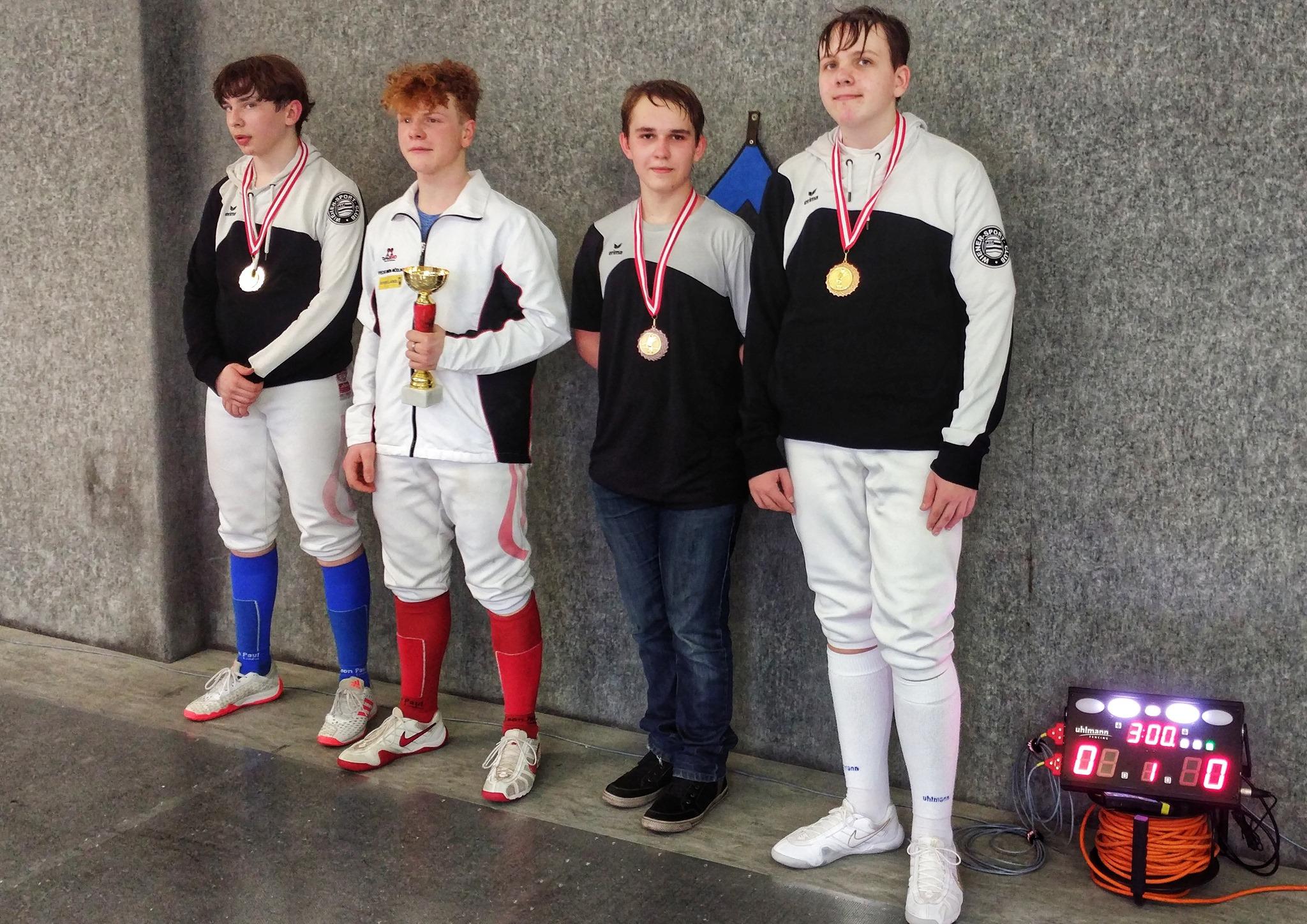 Drei mal WSC in der U17: Luki, Yannic und Alexander