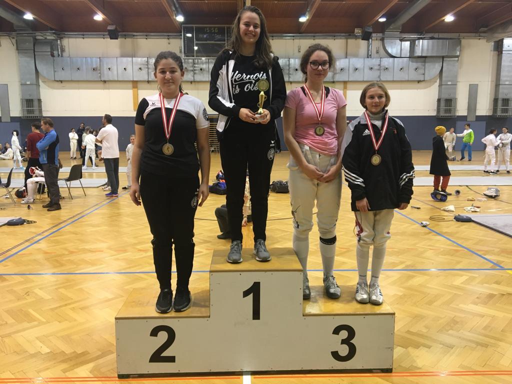 Die U20 Doppelsiegerinnen Lisa-Maria Baumgartner und Iasmina Mizrak.