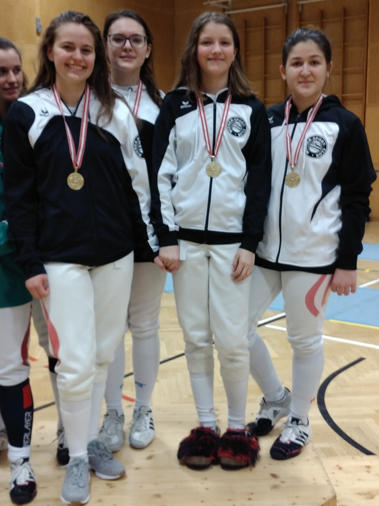 Lisa-Maria, Ida, Frida und Iasmina: Unser Goldteam