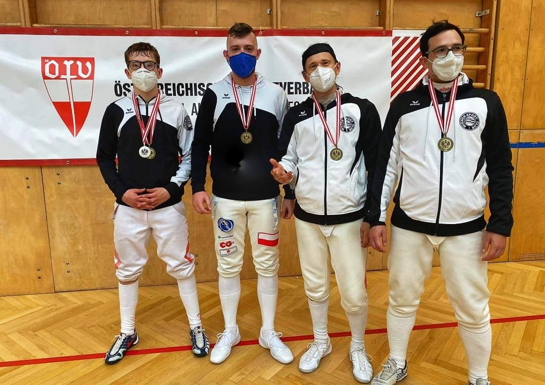 Unsere Herrenmannschaft, v.l.: Luki, Mateusz, Bernhard und Marco.