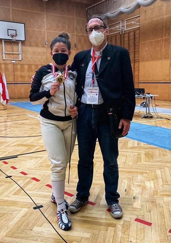 Der stolze Coach Hannes mit Iasmina.
