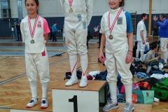Unsere jüngsten Starterinnen mit Silber und Bronze: Sofia und Mariella.