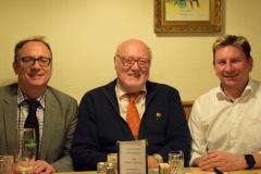 Roland Losert mit WSC Präsidenten Wolfgang Raml und Fechtsektionsleiter Hannes Hradez