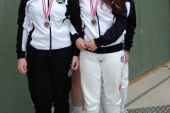 Unsere Silbermedaillengewinnerinnen (v.L.): Iasmina, Kira, Lisa-Maria und Eszter
