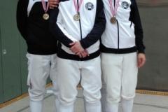 Die bronzenen Herren: Luki, Marco, Richard und Bernhard