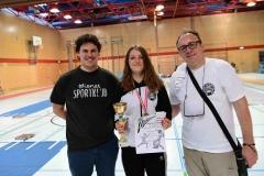 Frida mit stolzem Coach Luki und stolzem Sektionsleiter Hannes.