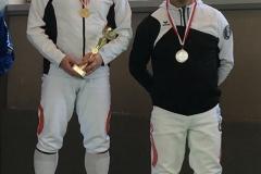Erwin mit der Silbermedaille