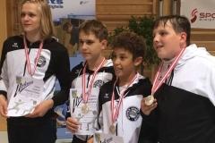 Das (WSC-)Team Wien: Julian, Yannic, Valentin und Alexander
